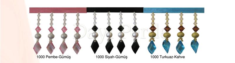 Perde Boncukları ( 1000 Pembe Gümüş )