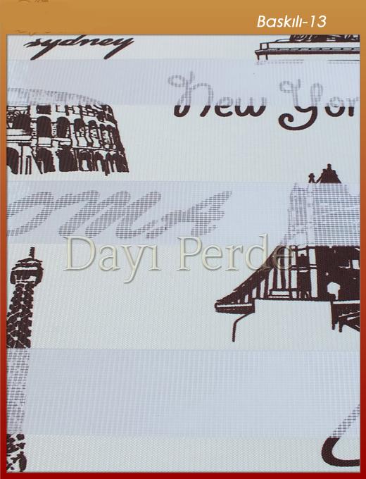 Zebra Perde Baskili 13