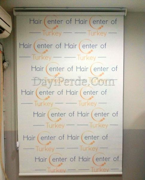 Hair Enter Of Saç Ekim Merkezi Baskılı Stor Perde
