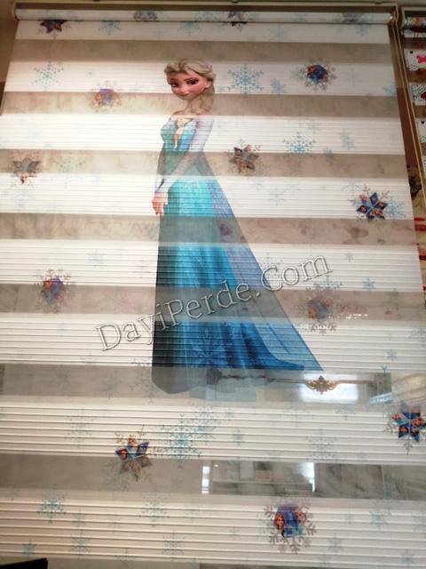 Barbie Dijital Baskılı Zebra Perde